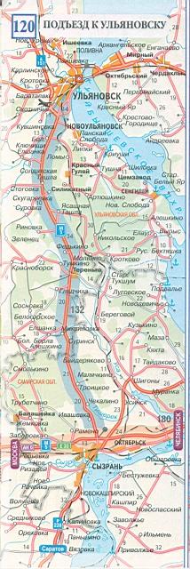 Карта дороги детальная карта