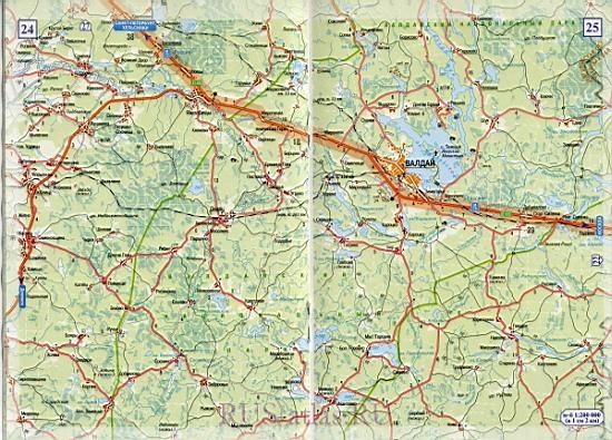 Валдай Великий Новгород карта