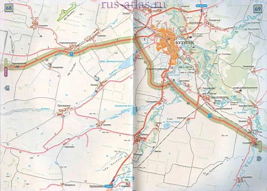 Самара Бузулук карта