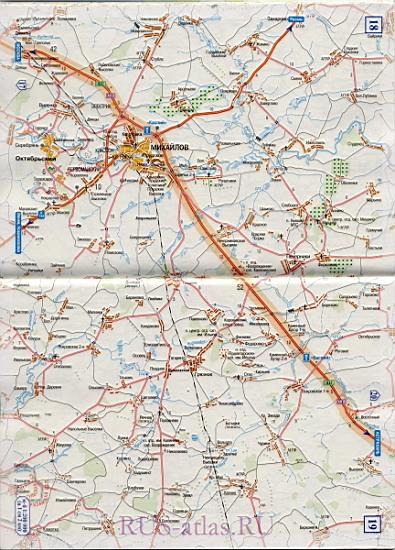 Подробная карта трассы М6 '