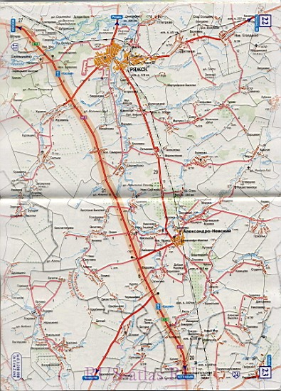 Карта автодороги подробная карта