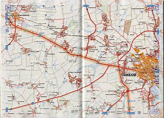 Тамбов борисоглебск карта авто