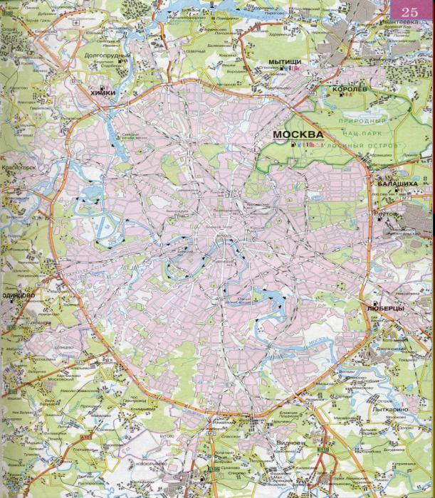 Карта Москвы и Подмосковья.