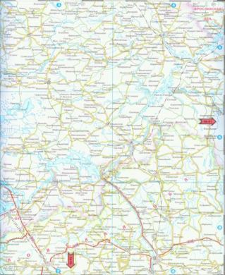 Автомобильная карта Московской