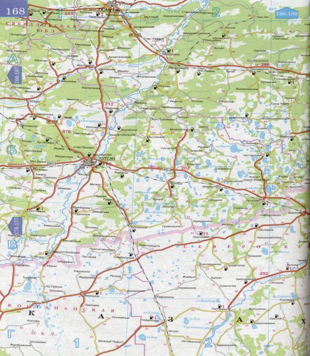 Карта дорог Тюменской области