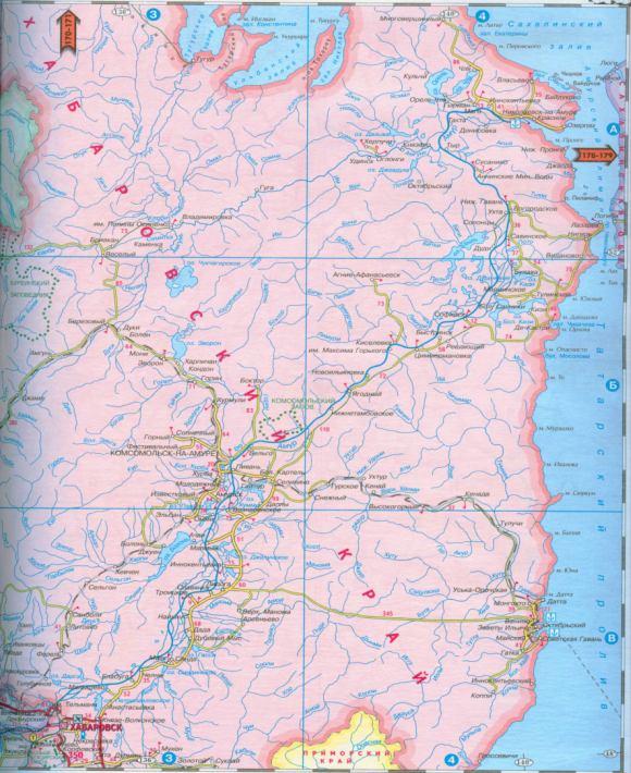 Карта Хабаровского края
