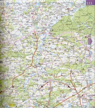 Карта Брянской области.