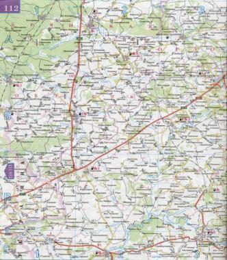 Карта брянской области автомобильные