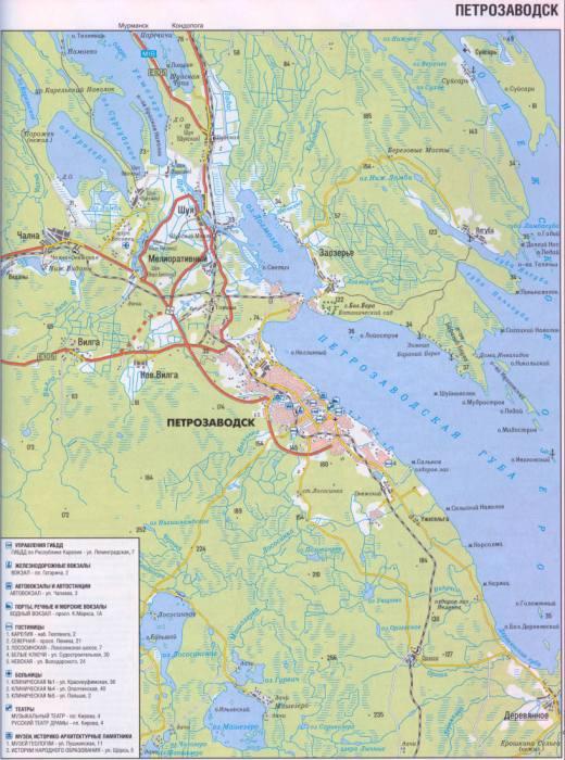 карты города Петрозаводска