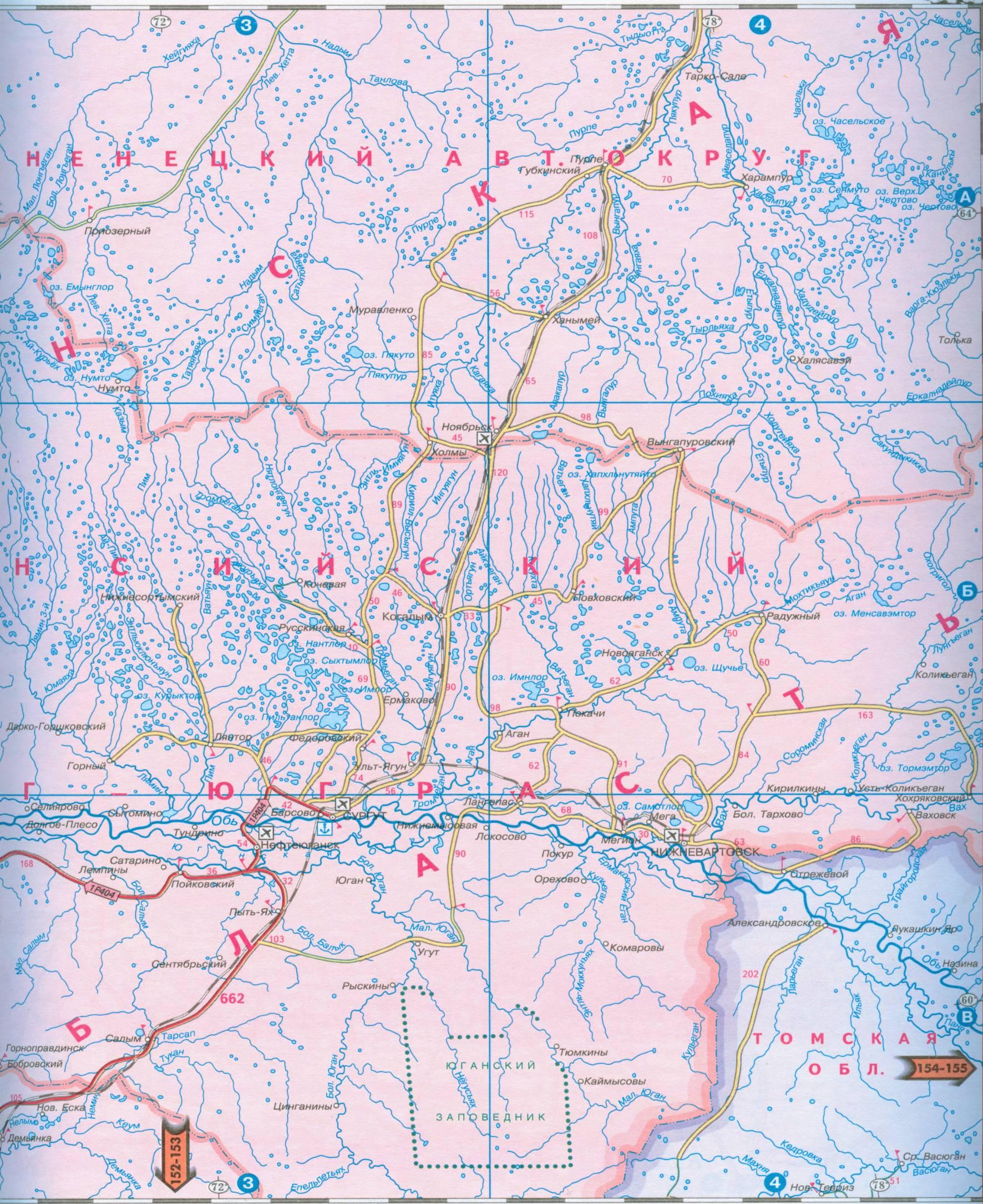 Карта урала и западной сибири атлас