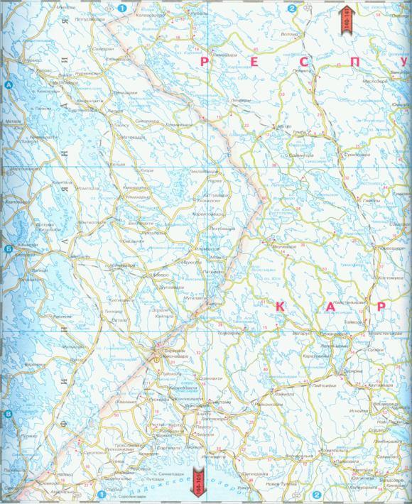 Карта республики Карелия.