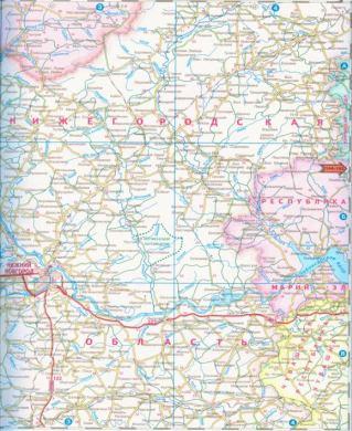 Карта нижегородской области карта