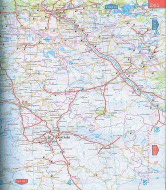 Карта северного казахстана подробные