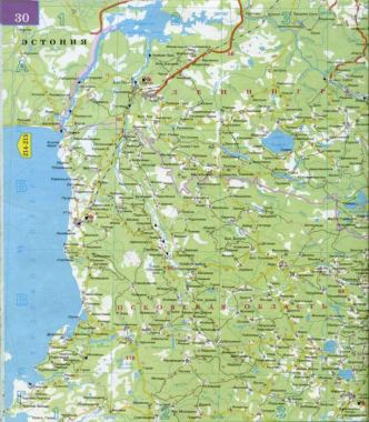 Карта ленинградской области