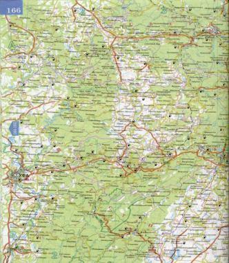 Подробная карта Свердловской