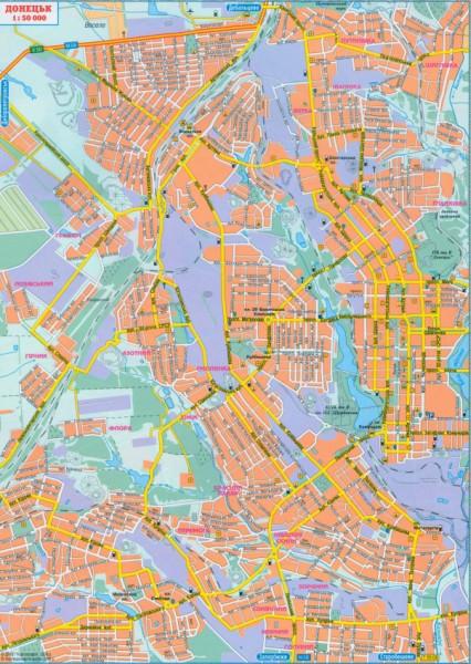 карта схема улиц Донецка
