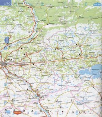 Атлас России - карта дорог
