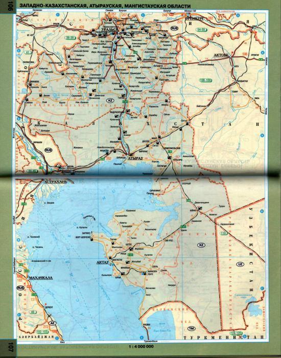 Казахстана. Карта схема