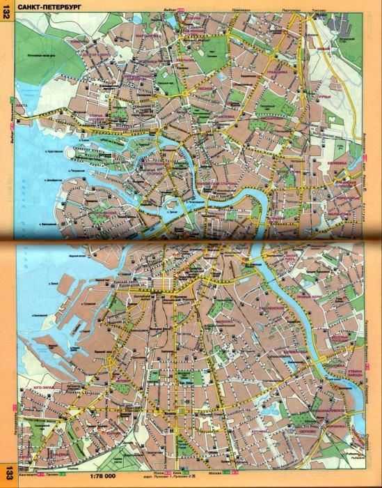 карта города санкт-петербург