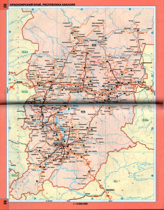 карту Красноярского края