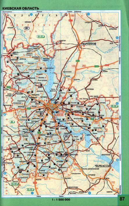 Автомобильная карта Киевской