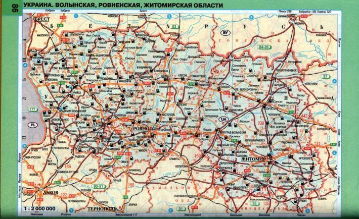 Карта схема автодорог