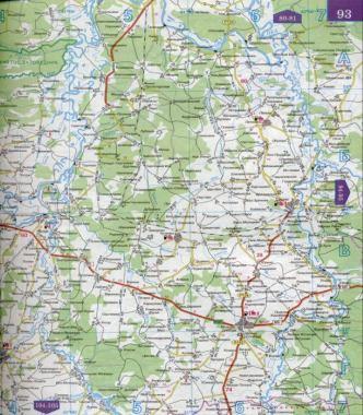 Карта автодорог Рязанской
