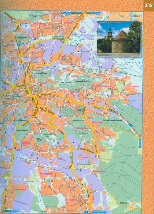 Карта Львова. Подробная карта