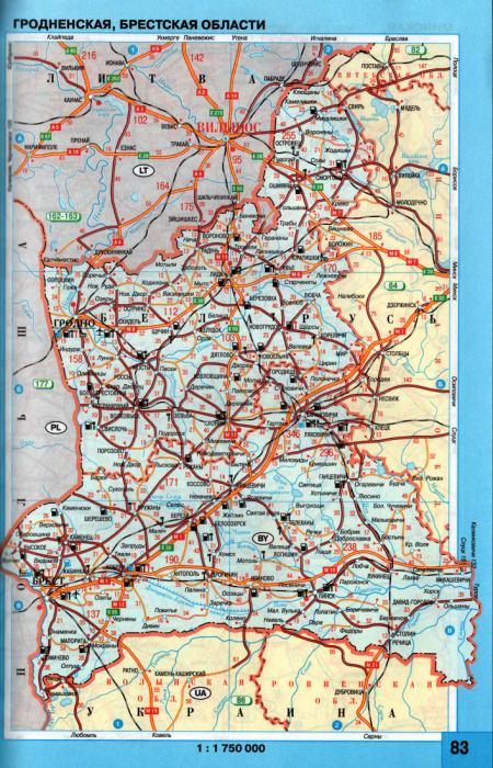Карта Гродненской Области