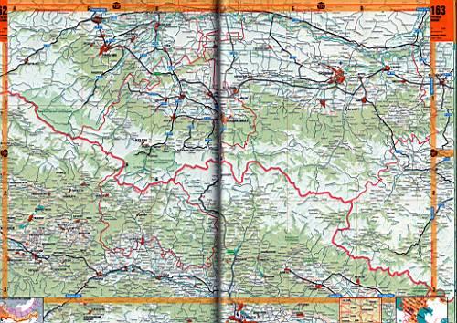 Карта Северной Осетии. Атлас