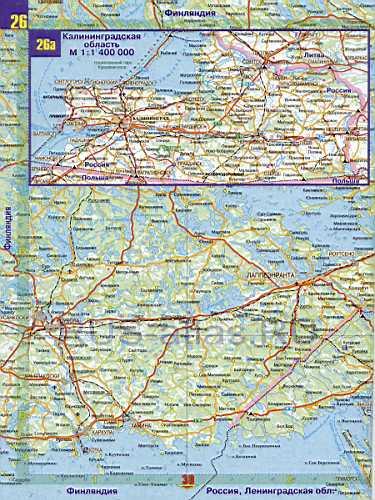 Карта калининградской области карта
