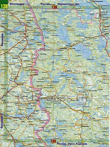 Автомобильная карта России.