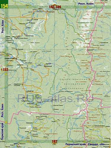 Карта Коми. Карта дорог республики Коми: http://rus-atlas.ru/442909.html