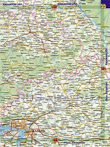 На карте автомобильных дорог