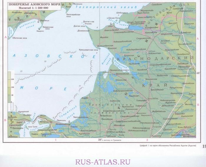 Карта побережье азовского моря