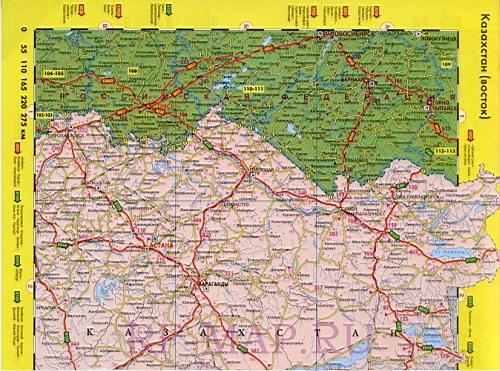 Карта казахстана на русском языке